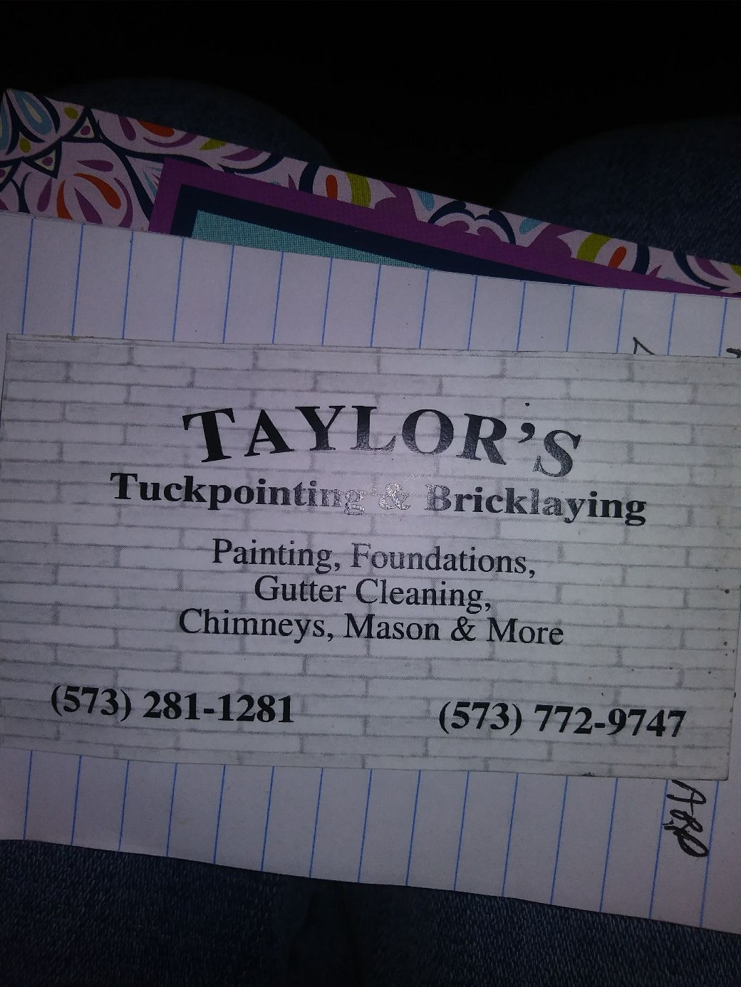 Taylor Tuckpointing and Brick Laying