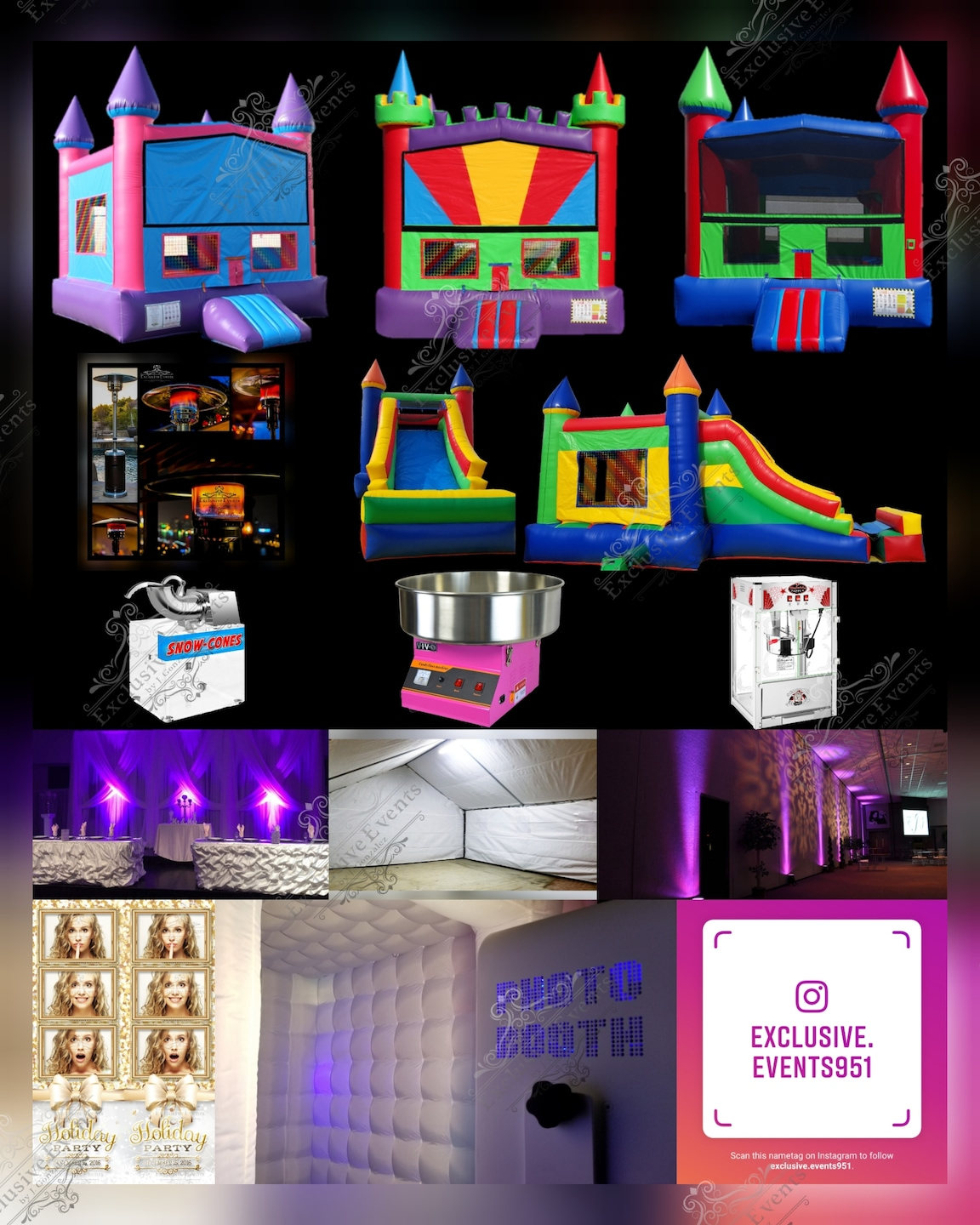 Exclusive Events, Party Rentals, Photo Booths