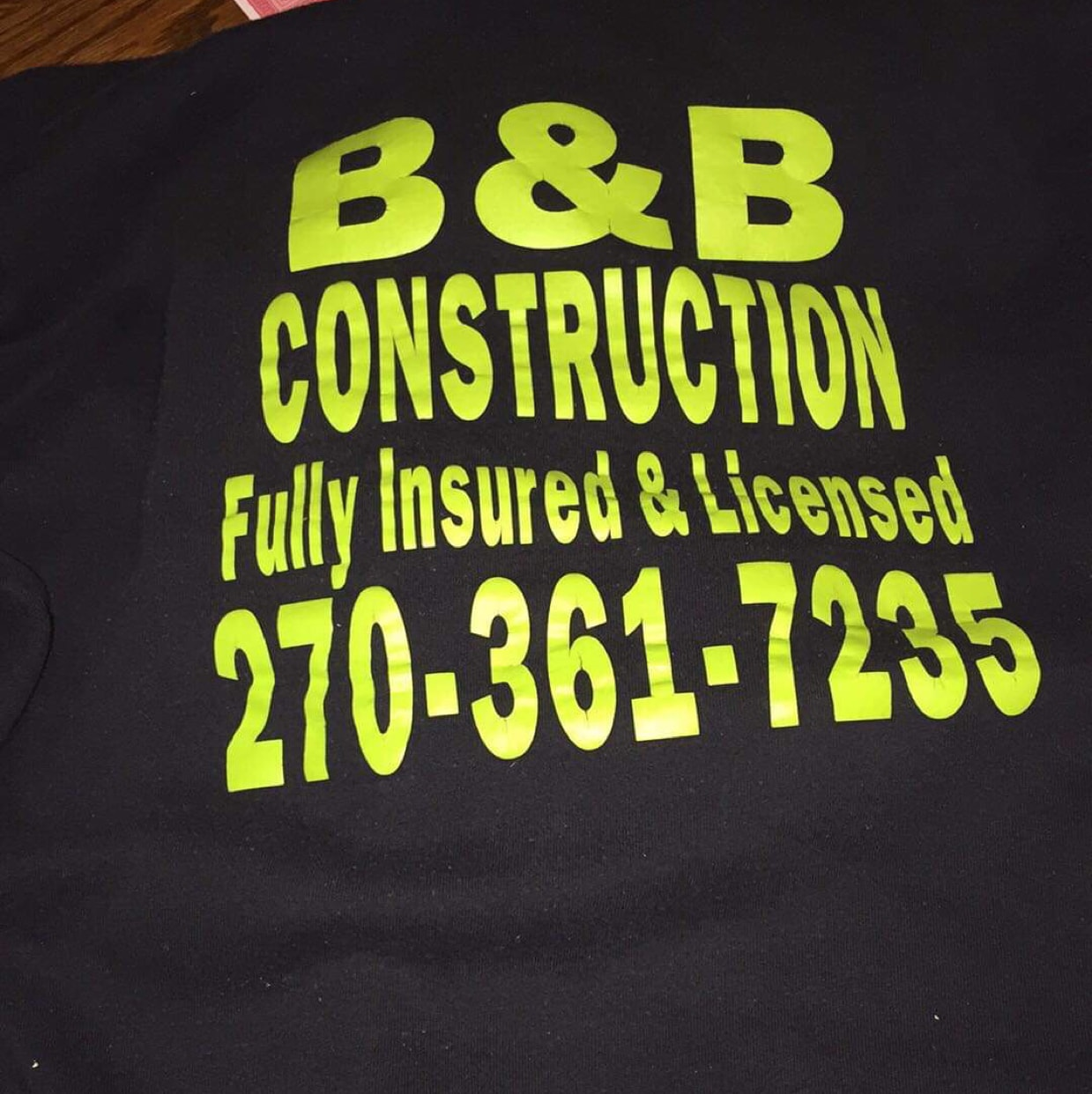B and B Construction