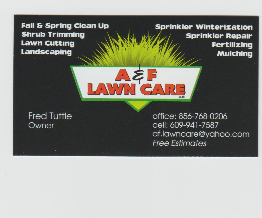 A Amp F Lawn Care Llc Reviews Berlin Nj Angie S List