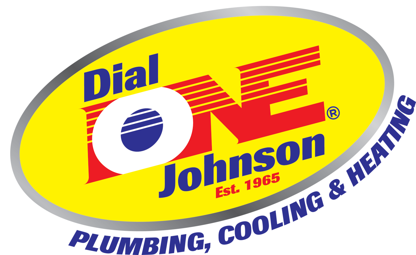 Dial One Johnson Plumbing, Cooling, and Heating logo