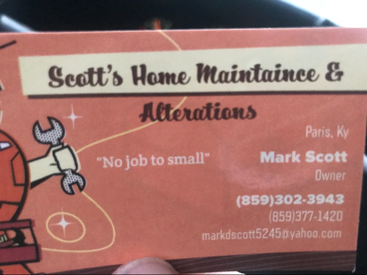 Scotts home maintenance & alterations