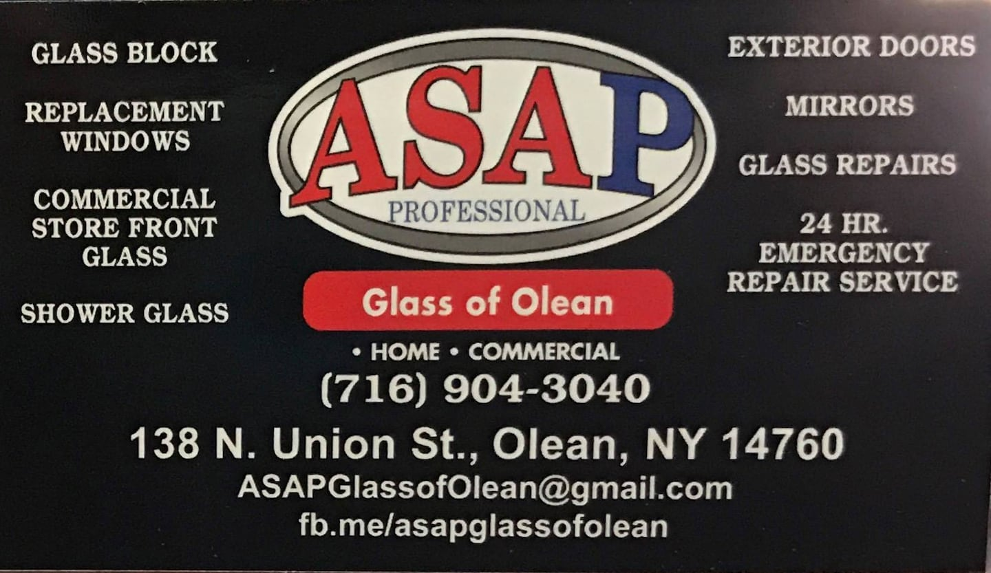 ASAP Glass of Olean