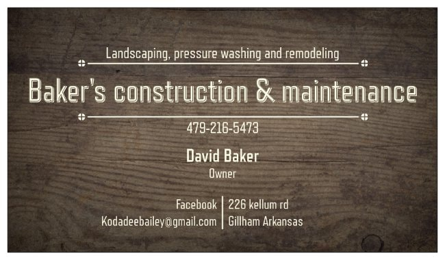 Baker's construction & maintenance LLC