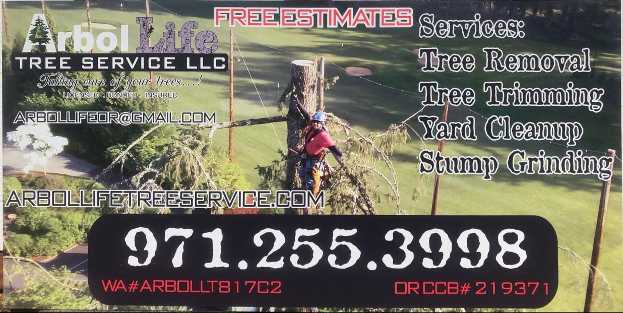 ARBOL LIFE TREE SERVICE LLC