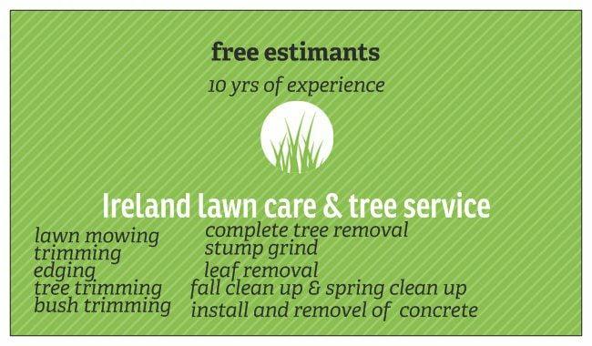 ireland lawn care & tree service