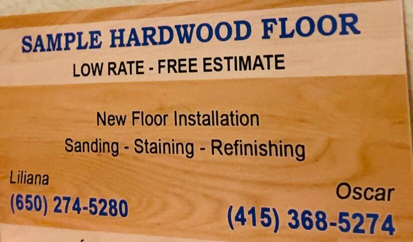 Sample Hardwood Floor