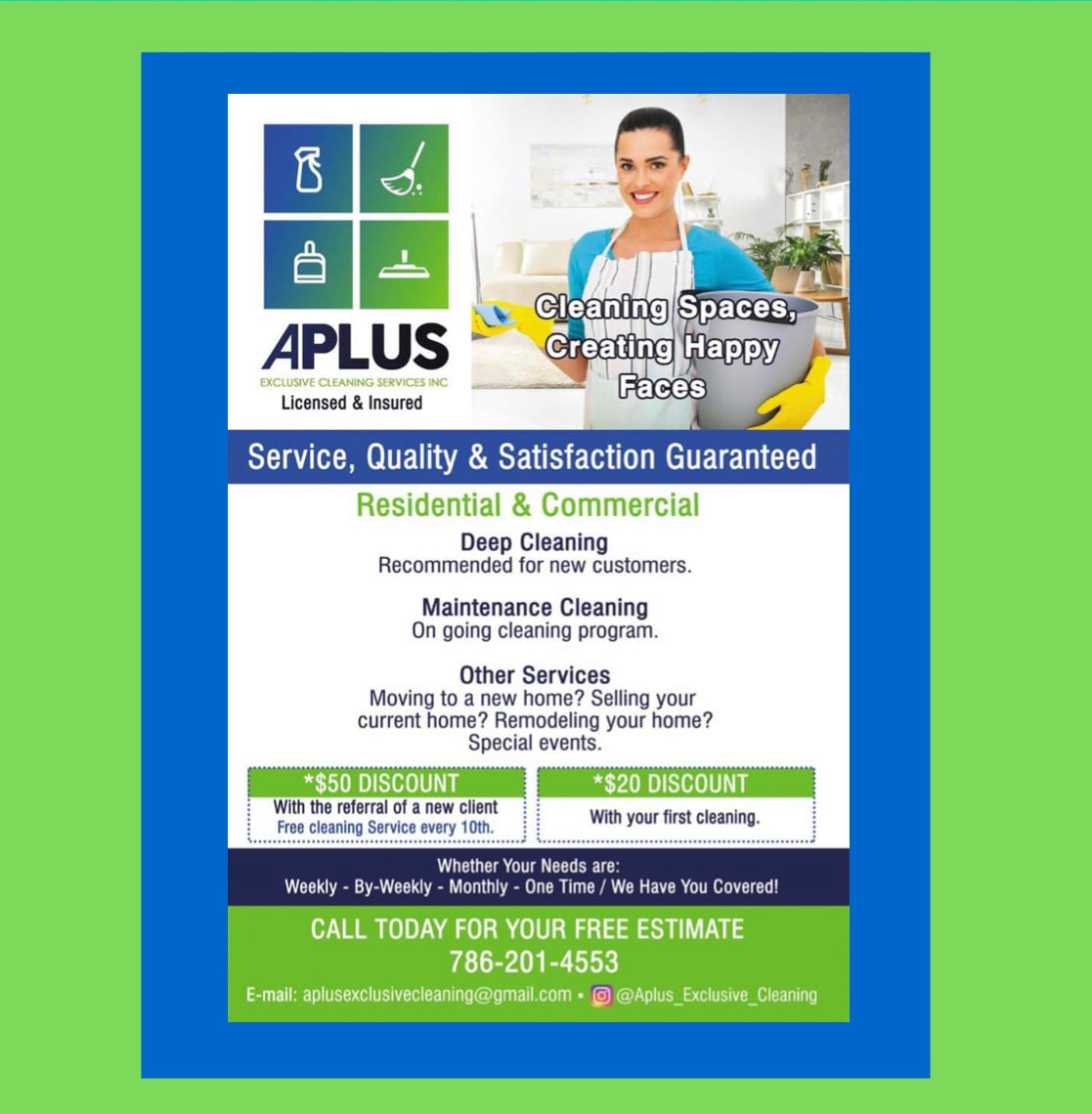 Aplus Exclusive Cleaning Services Inc