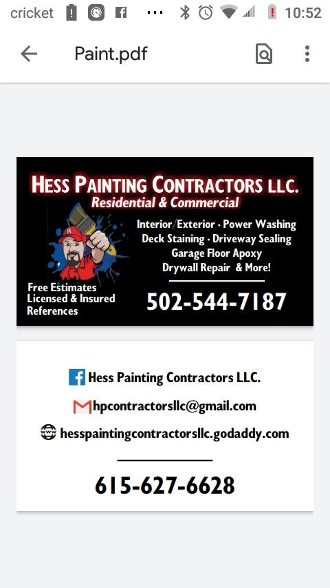 Hess Painting Contractors LLC.