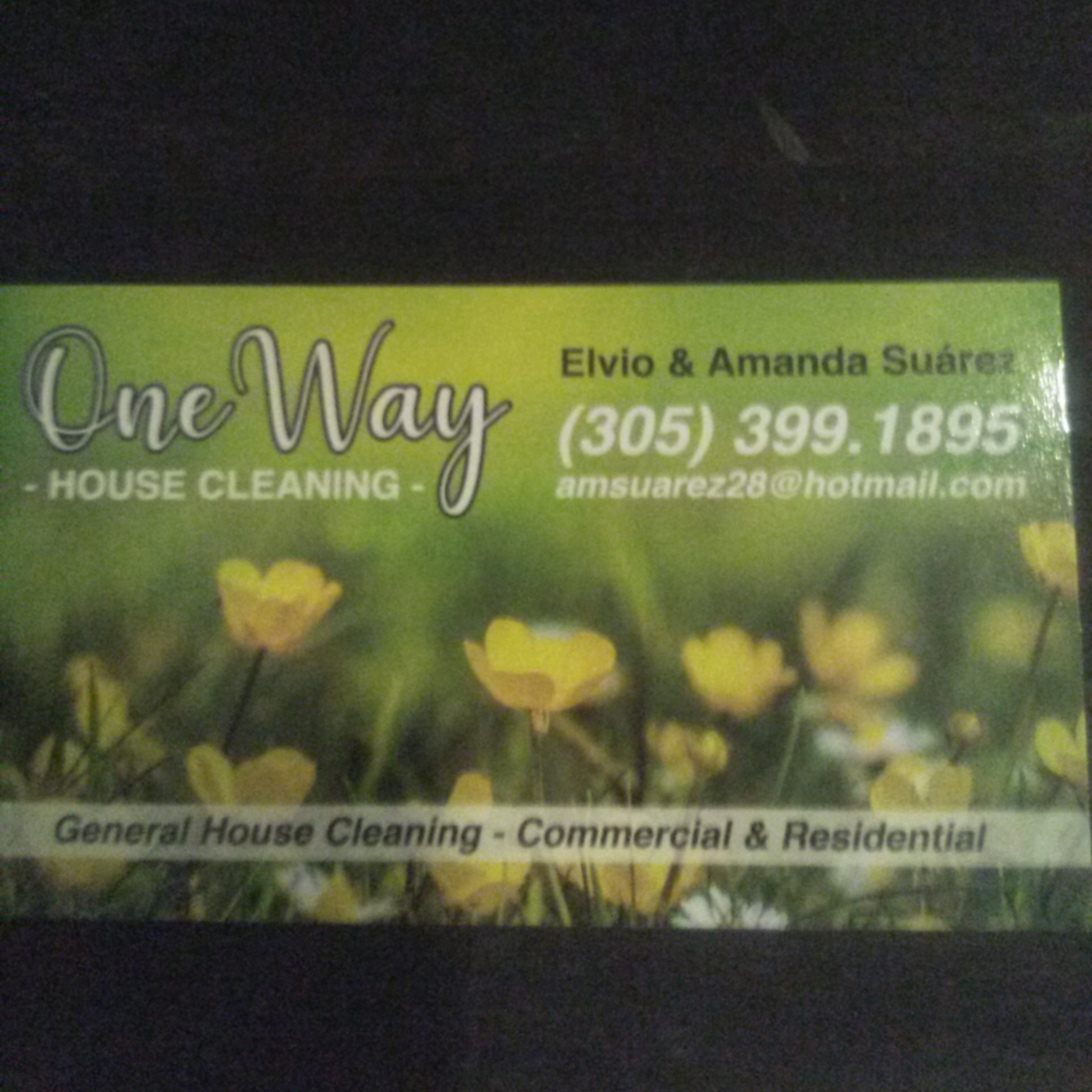 One way house cleaning