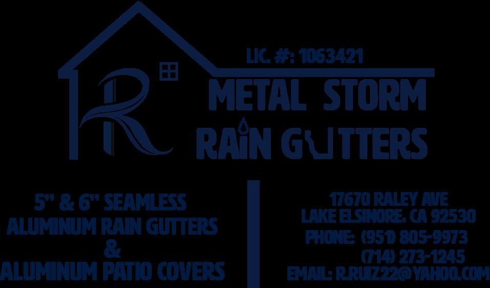 R' METAL STORM RAIN GUTTERS